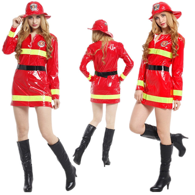 Free Shipping Adult Women Firefighter Costume Christmas Carnival ...