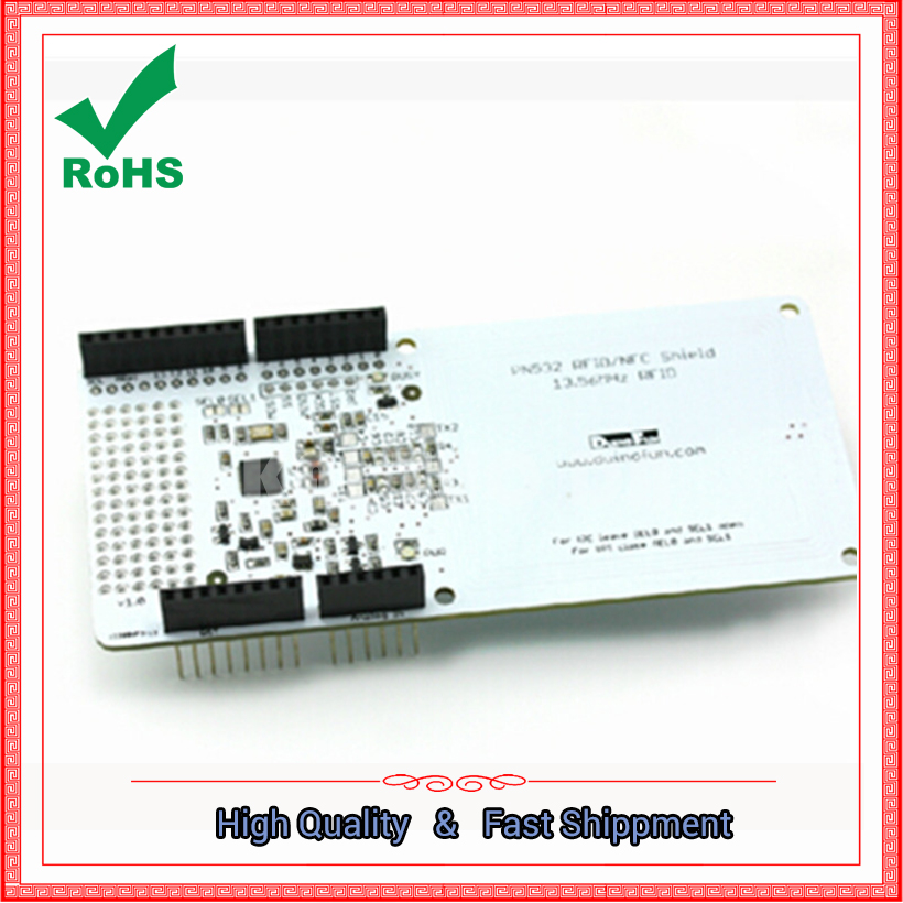 ФОТО RFID / NFC / PN532 Shield IC card expansion board can be stacked to send white card