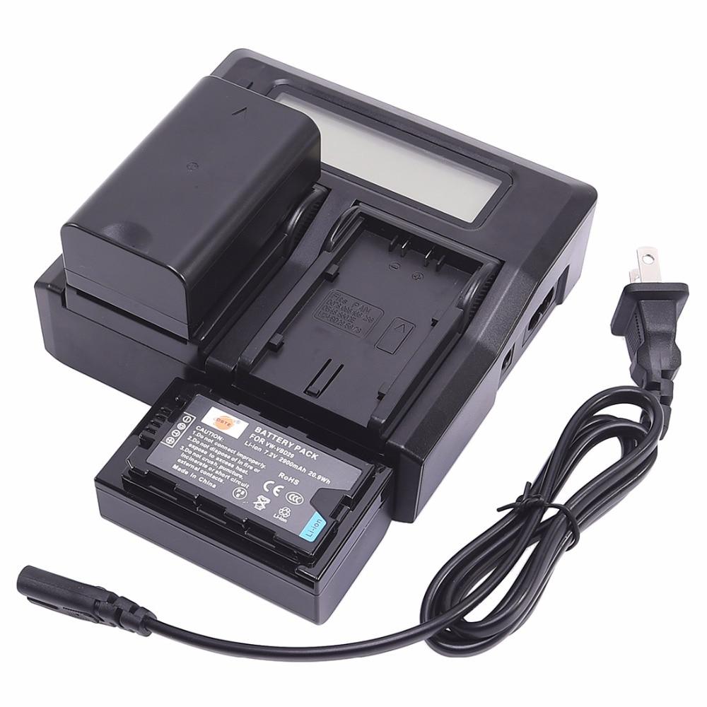 ФОТО DSTE for  PANASONIC AJ-PX298MC HDC-MDH2GK Smart Digital 1.5A Dual Charger Compatible 2xLi-ion VW-VBD29 Batteries