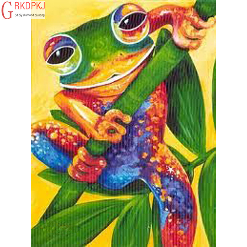 Frog 5D DIY Diamond Painting Full Embroidery Mosaic Leaves Big Eyes Animal  Art Fashion Crafts Gifts Mural Party Home Decoration 4f39e951eb85