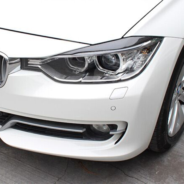 3 Series F30 Carbon Fiber Front Lamp Eyelids Eyebrows For Bmw F30