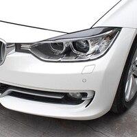 3 Series F30 Carbon Fiber Front Lamp Eyelids Eyebrows For BMW F30 320I 328I 335I 2011 2015