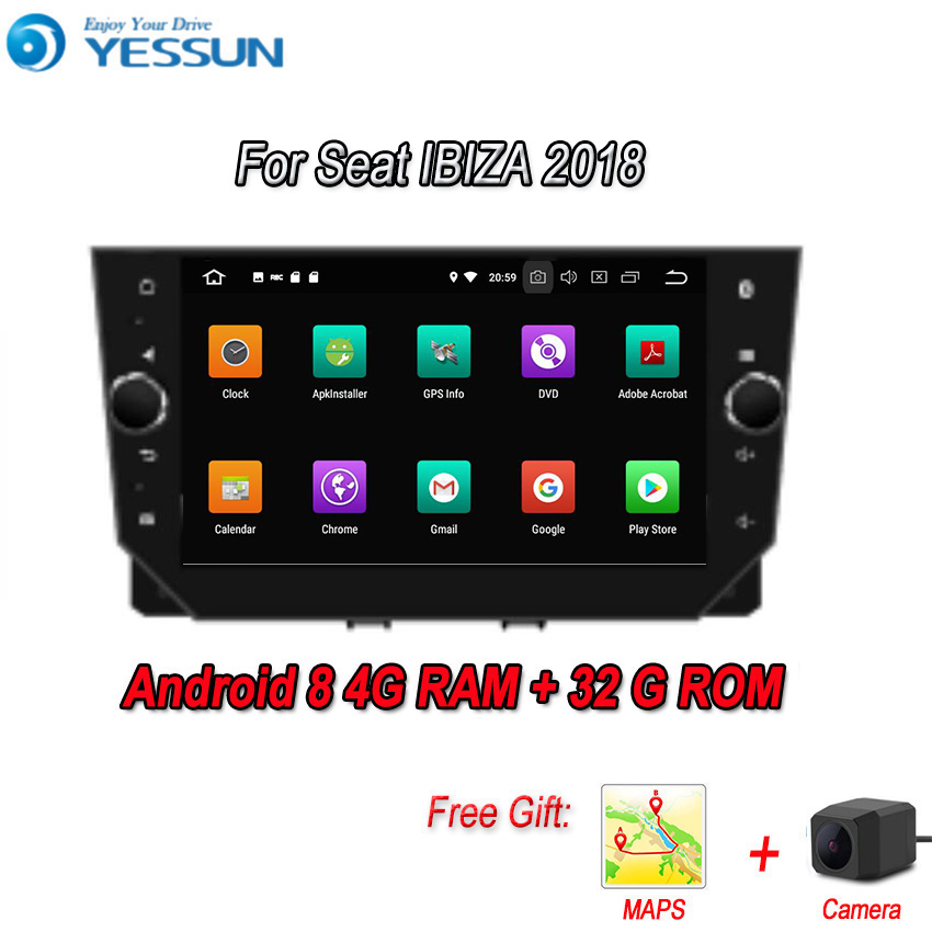 YESSUN Android 8.0 4G RAM For <font><b>Seat</b></font> <font><b>IBIZA</b></font> <font><b>2018</b></font> Car Navigation GPS Multimedia Player mirror link <font><b>Radio</b></font> Touch Screen Autoradio image