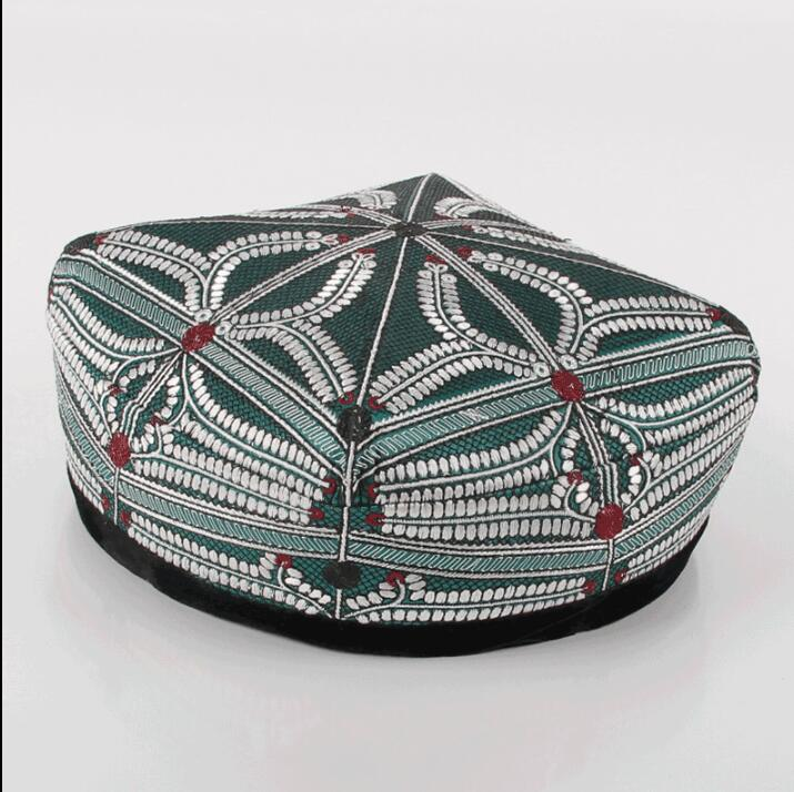 Xinjiang Uygur Hat Handmade Flat Top