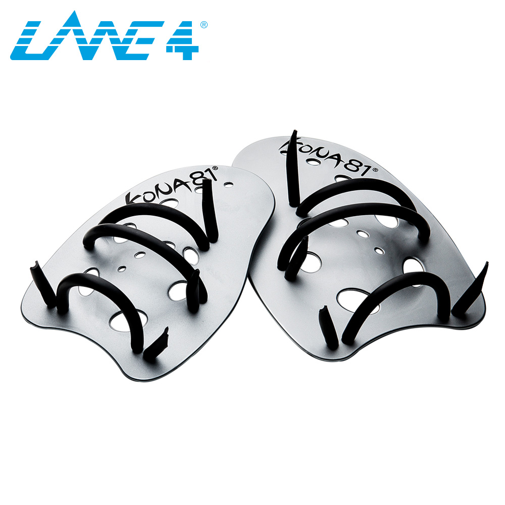 LANE4 MAXIVICTORY HAND PADDLES Professional Swim Training Aid Adjustable Straps 2 Sizes (S/L) for all swimming levels