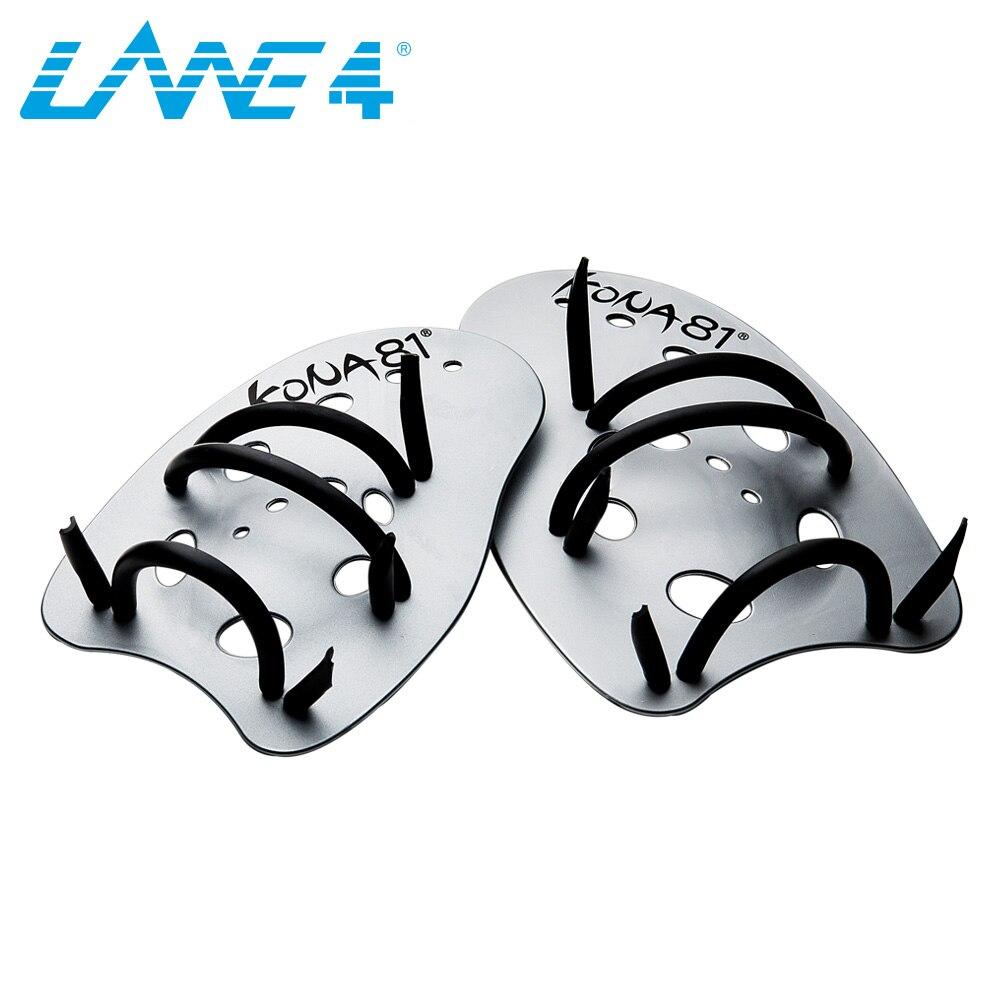 LANE4 MAXIVICTORY HAND PADDLES Professional Swim Training Aid Adjustable Straps 2 Sizes  ...