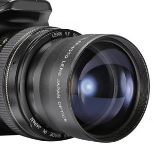 Image 2 - 2X 58mm Telephoto Lens High Definition Camera Telephoto Lens Optics Teleconverter For Cameras Accessories