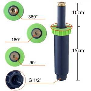 Image 3 - Adjustable Pop up Sprinklers with 1/2 Inch Female thread 90 360 degrees Automatic retractable Lawn Irrigation sprinkler 5 Pcs