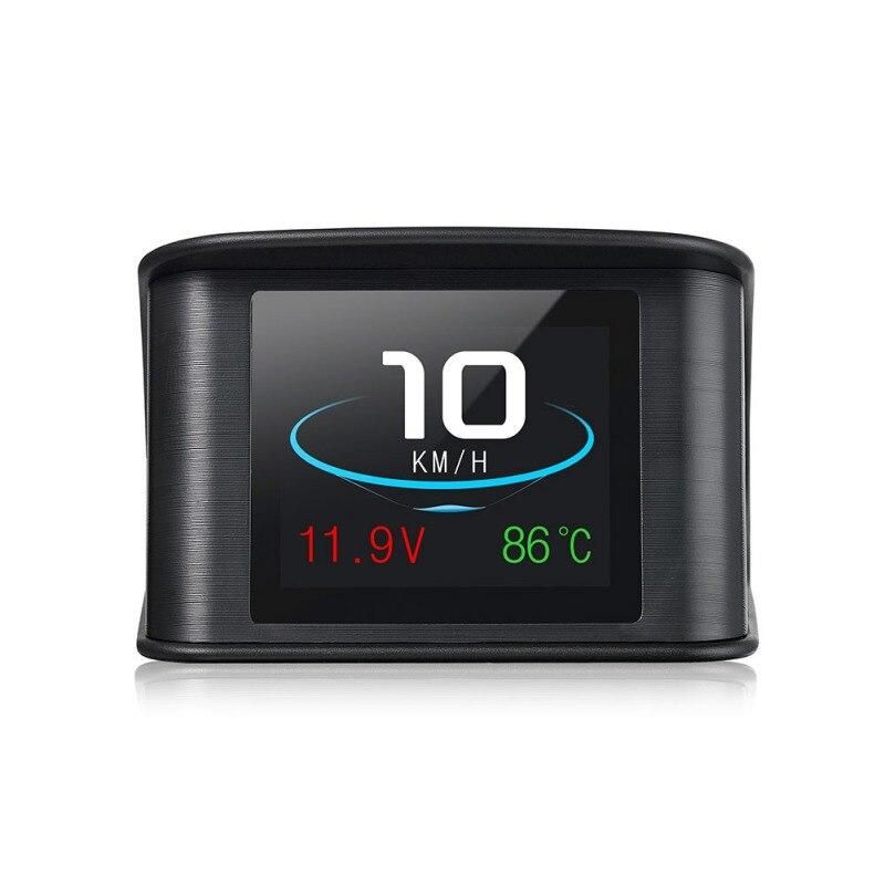 Hud GPS OBD Computer Car Speed Projector Digital Speedometer Display Fuel Consumption Temperature Gauge Diagnostic Tool