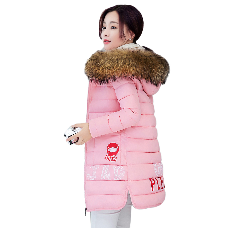 winter jacket woman 2017 winter duck down jacket women long jacket coat thick warm clothes female raccoon fur collar imitation 2017 winter new clothes to overcome the coat of women in the long reed rabbit hair fur fur coat fox raccoon fur collar