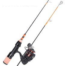 Ice Fishing Rod Combo Carbon Cork and EVA handle 2 Sections 8BB+1 Stainless Steel Body Reel