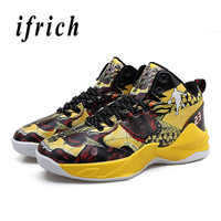 Man Basketball Shoes Autumn Winter Basketball Court Shoes Black Red Mens High Top Sneakers Lace Up Athletic Shoes Male