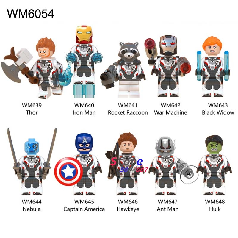 50pcs Super Hero New Marvel Avengers 4 Endgame Thor Iron Man Captain America Hulk rocket building
