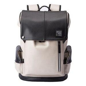 Image 2 - กระเป๋าเป้สะพายหลัง PU หนัง USB ชาร์จแล็ปท็อปกระเป๋าชายกันน้ำ Travel กระเป๋าเป้สะพายหลังแฟชั่นสบายๆคุณภาพกระเป๋า