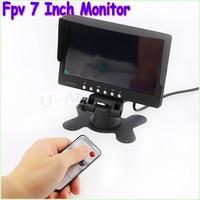 1pcs FPV 7 Inch TFT LED Monitor HD 800x480 Screen For RC Model Camera Wholesale Free