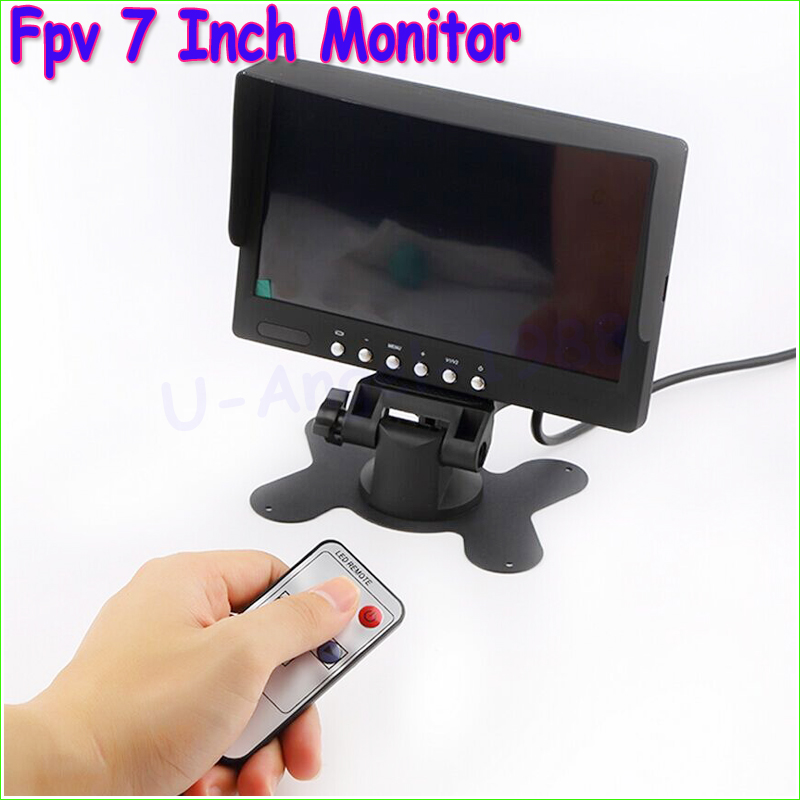 1pcs FPV 7 inch TFT LED Monitor HD 800x480 Screen for RC Model Camera Wholesale Free Shipping