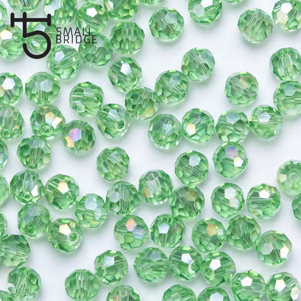 100pcs 4mm Austria Green Faceted Ball Beads Women Diy Accessories For Jewelry Makging Spacer Crystal Glass Beads Wholesale Z104 Jewelry & Accessories