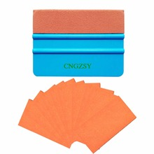 CNGZSY Auto Wrapping Cleaning Tools Suede Edge Squeegee 10PCS Adhesive Replacement Suede Felt Car Window Film Tint Tool K34