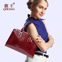 100 Geniune Patent Leather Elegant Women Tote Bag Designer 2016 Women Tote Handbag Fashion