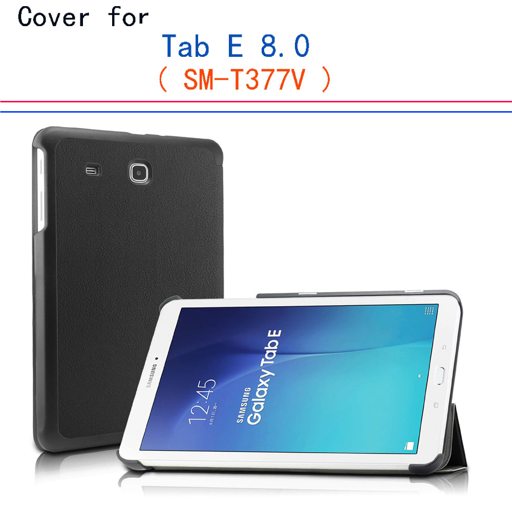 SM-T377 case cover - UltraSlim Book Stand smart Cover for Samsung Tab E 8.0 4G LTE Sprint / US Cellular / Verizon / AT&T Case