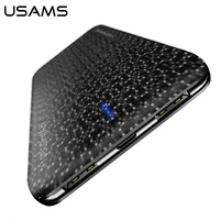 USAMS 10000mAh Power Bank Ultra Slim Portable Powerbank For IPhone 7 6 Mobile Phone External Battery