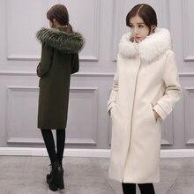 Autumn and winter 2017 new coat winter thick lengthy knee woman Korean model of the tide coat lengthy woolen jacket jacket cotton