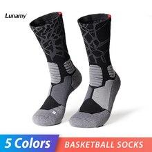 Lunamy 2019 Professional Basketball Socks Men ARCH Compression Non-Slip Sport Zoned Cushioning Running Cycling