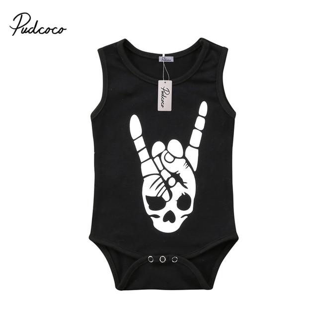4e97c0134da3 pudcoco Newborn Toddler Baby Boy Girl Bodysuit rock hands print ...