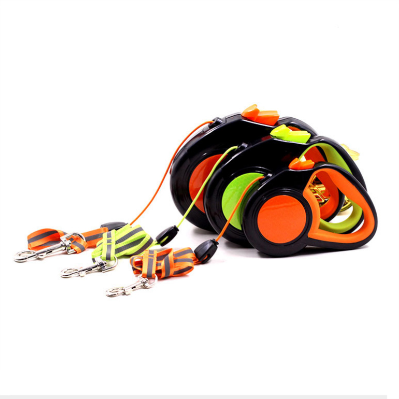 Pet Traction Rope Automatic Retractable Reflective Luminous Night Traction Dog Rope Small And Medium-sized Dog Outdoor Tractor