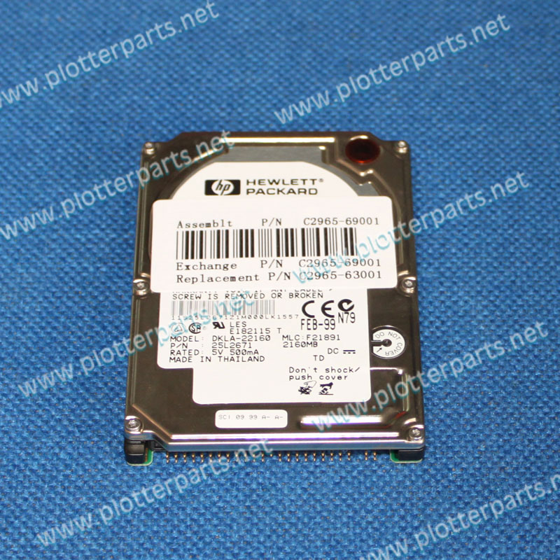 C2965-69001 C2965-63001  420 MB Disk Drive Mounts to the Formatter Board for the HP LaserJet 5Si printer parts