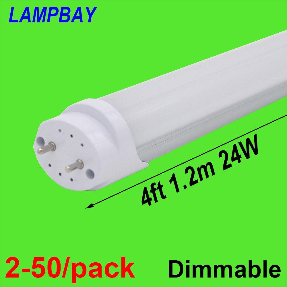 2-50/Paquete de bombilla de tubo LED 4ft 48