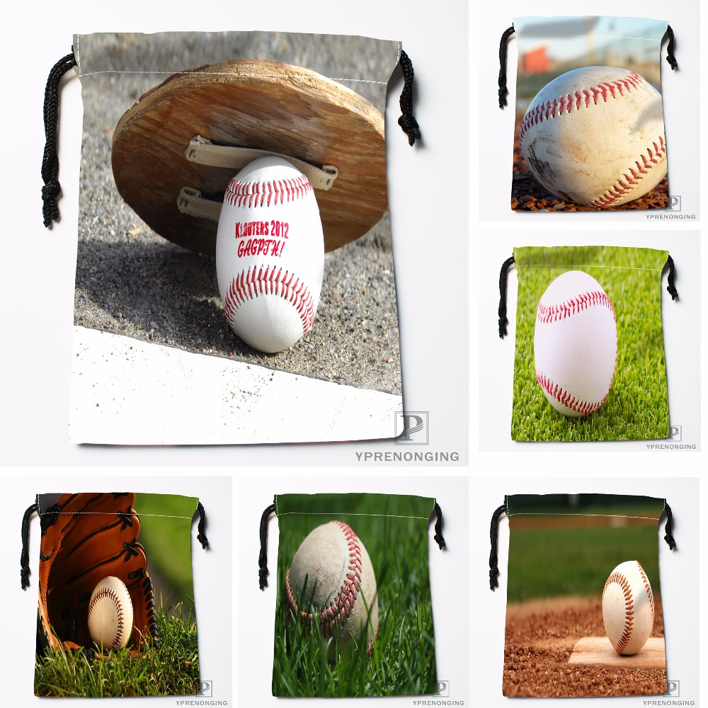 Custom The Baseball Drawstring Bags Travel Storage Mini Pouch Swim Hiking Toy Bag Size 18x22cm#0412-04-214