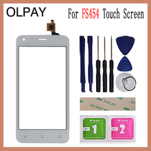 OLPAY 4.5 For Fly FS454 nimbus 8 FS 454 Touch Screen Digitizer Panel Repair Parts Touch Screen Front Glass Lens Sensor Tools