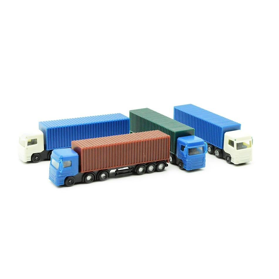 10pcs veículo modelo em escala 1:150 modelo de caminhão recipiente de plástico em miniatura escala do caminhão