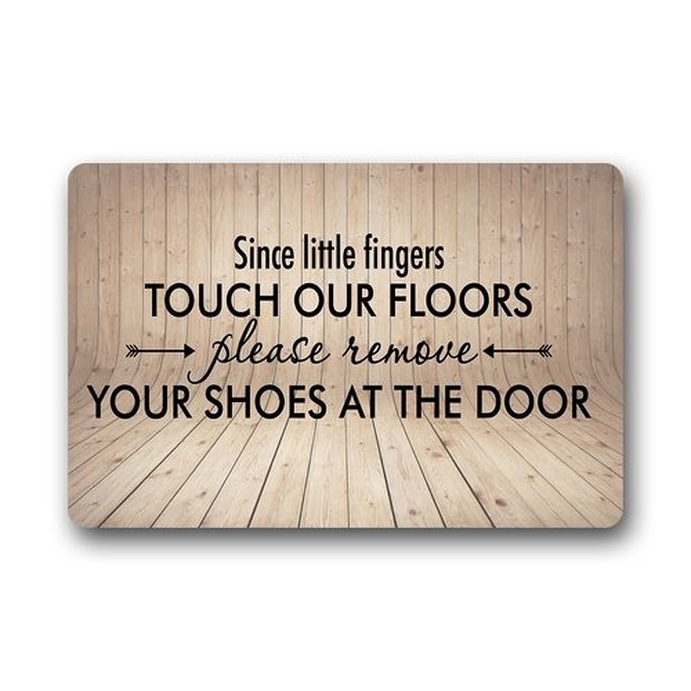 Warm Tour Custom Machine Washable Door Mat Please Remove