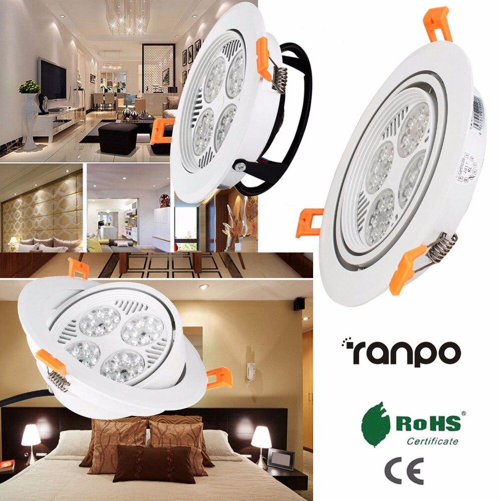 30 W encastré LED plafonnier Downlight ampoule blanc froid lampe AC 220 V + pilote LED vers le bas des lumières