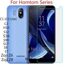 HomTom Zoji Z6 Z8 de vidrio templado para Homtom C2 C1 C2 Lite S99 S16 S12 HT10 S7 S17 S8 Protector de pantalla cubierta de película