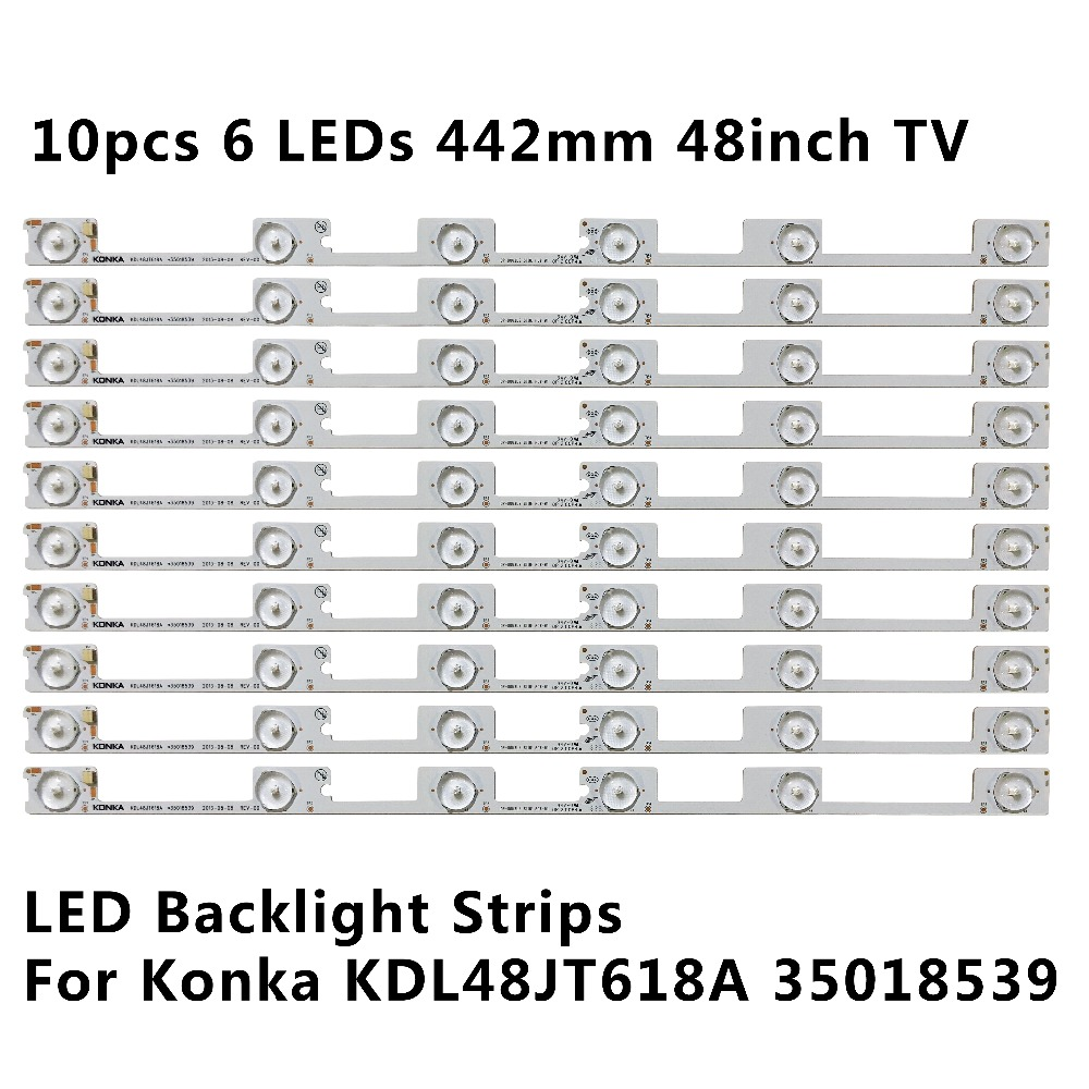 Computer & Office New 80 Pcs*6 Leds*6v 442mm Led Backlight Strip Bar For Tv Kdl48jt618u Kdl48jt618a 35018539 35018540