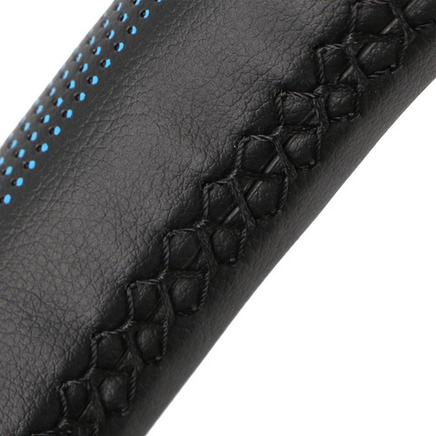 Steering Wheel Cover Universal 38 cm/Artificial Leather Braid for Steering-wheel DIY Thread, Needle Stitch on(3D embossing) Multan