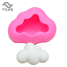 TTLIFE 3D Cloud Silicone Mold Fondant Mold Cake Decorating Tools Chocolate Gumpaste Mold Candy Molds Fondant Baking Tools цена