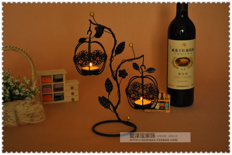 Fashion lantern tieyi mousse vintage hanging mousse at both ends new house decoration candle 5