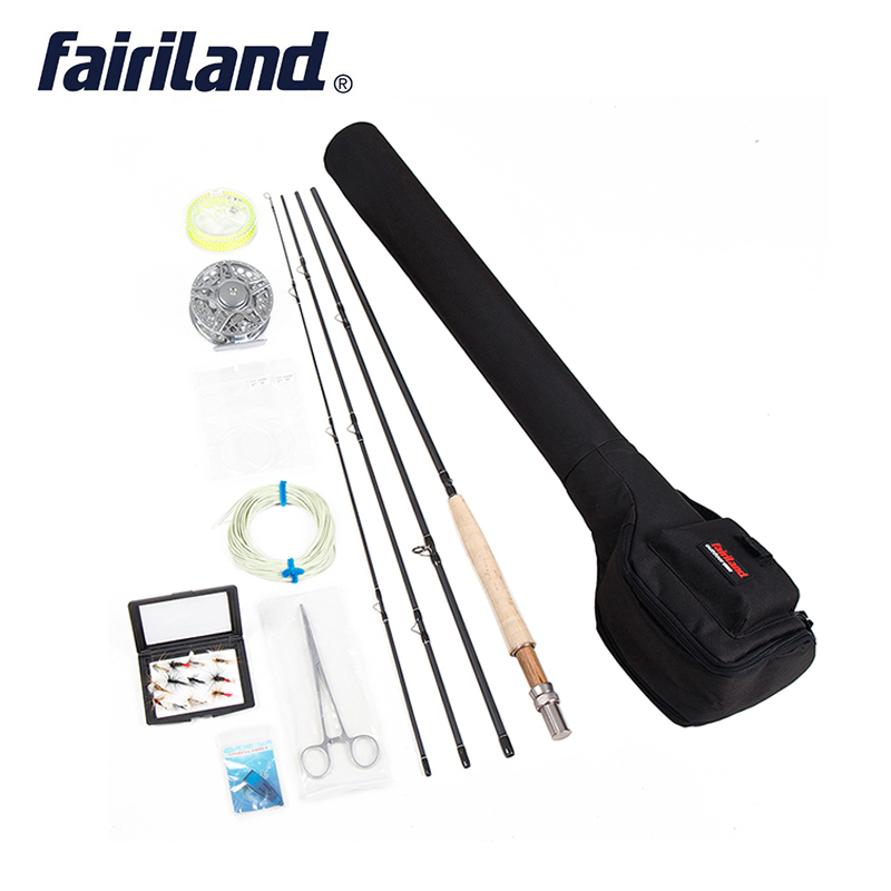 Fly Fishing set 5 6 Starter kit 2 7m carbon fishing rod 90mm aluminum fishing reel