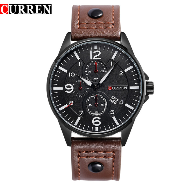 CURREN men's watch luxury famous brand Casual Men Military Sport Quartz-watch watch Male watches Wristwatches Relogio Masculino