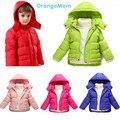 Мода 2017 Новые Зимние детские зимние куртки Теплый утка Вниз пальто, 6 цвет Куртки для мальчиков девочек одежда Топы для детей