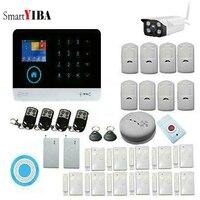Smartyiba Беспроводной Wi Fi GSM сигнализация Системы Android IOS APP Управление дома Охранной Сигнализации Системы с датчиком движения PIR IP камеры