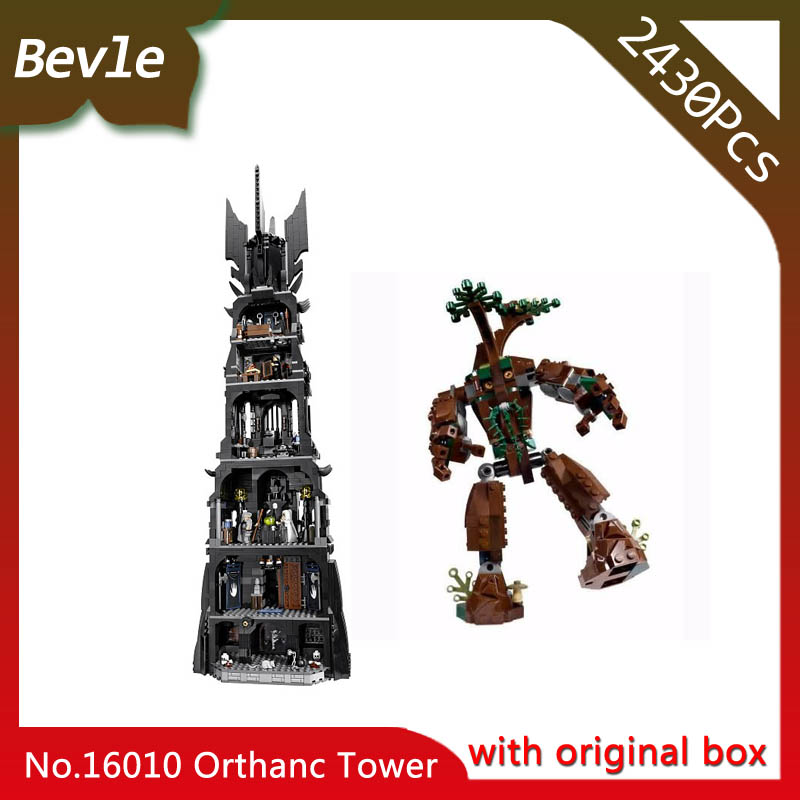 Bevle Store LEPIN 16010 2430pcs Movie Series Lord of the Rings Orthanc Building set Blocks Bricks Toys 10237 with original box bevle store lepin 22001 4695pcs with original box movie series pirate ship building blocks bricks for children toys 10210 gift
