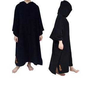 Image 3 - Combinaison poncho de surf à changement de Robe, serviette avec capuche, pour nager et sports de plage, 2020 coton, grande taille, pour adultes, nouvelle collection 100%