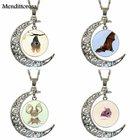 EJ Glaze For Kids Beads Design Fashion Glass Crescent Moon Women Necklace Pendants Cutest little bat ever Logo