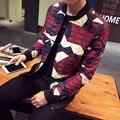 Новый 2016 зимняя мода цвет заблокирован плед деформации хлопка ватник мужчины сгущать куртка мужчины мужская одежда размер m-5xl MDY7-1