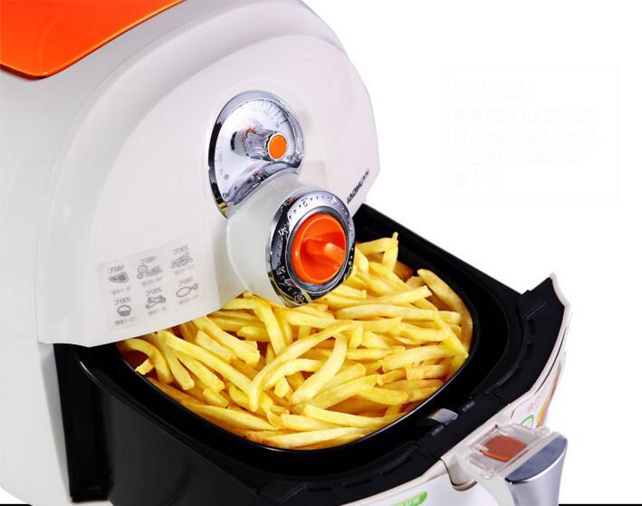Friteuse à Air domestique 220V friteuse électrique grande capacité frites faisant la Machine cuiseur multifonctionnel DF-1500